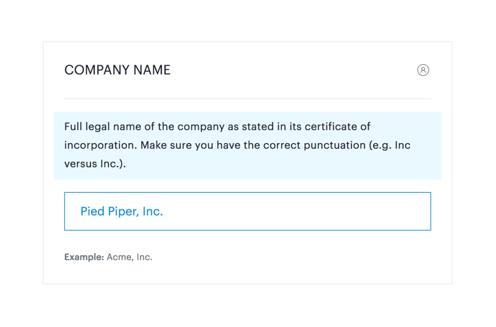 sample field - company name
